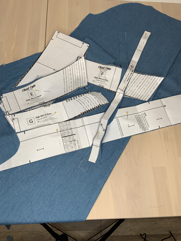 Image of fabric and pattern layout