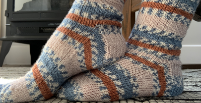 Self Striping Socks