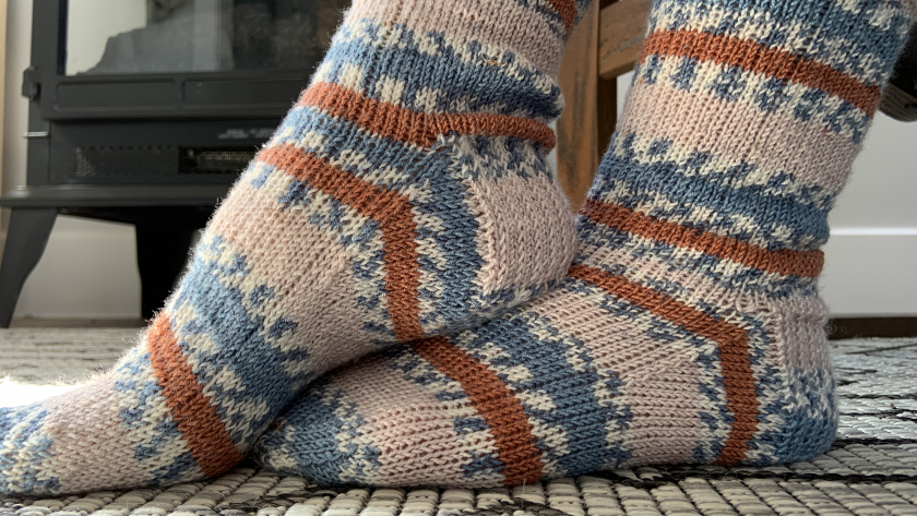 Self Striping Socks